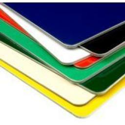 2440mm x 1220mm x 3mm Green Aluminium Composite Sheet (Gloss/Matt)