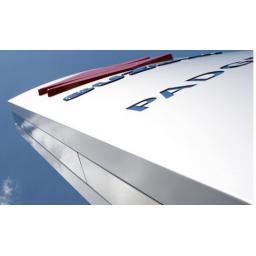 2440mm x 1220mm x 3mm White Aluminium Hoarding Composite