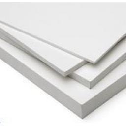 3050mm x 1560mm x 10mm White Foam PVC Sheet - Matt Finish