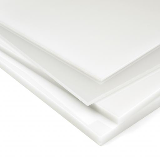 3mm Dense White Perspex® 069 Cast Acrylic Sheet 500mm x 750mm