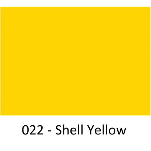1260mm Wide Oracal 551 Series High Performance Cal Vinyl - Shell Yellow 022