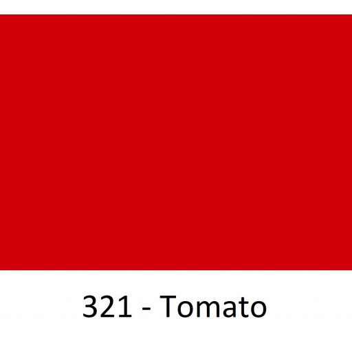 1260mm Wide Oracal 551 Series High Performance Cal Vinyl - Tomato 321