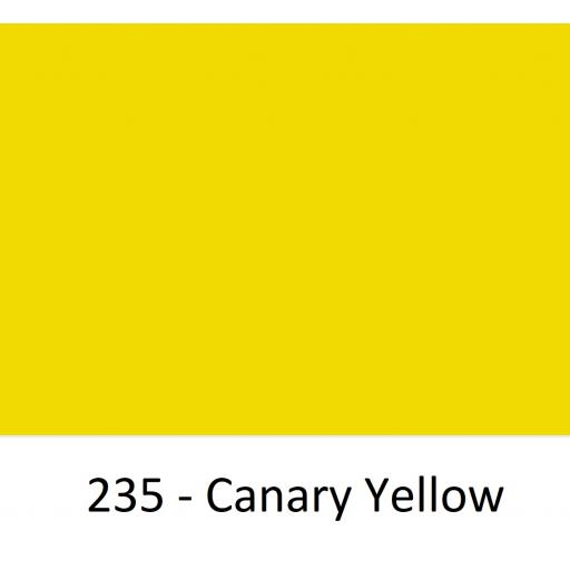 1520mm Wide Oracal 970 Rapid Air Premium Wrapping Cast Vinyl - Canary Yellow 235 Gloss