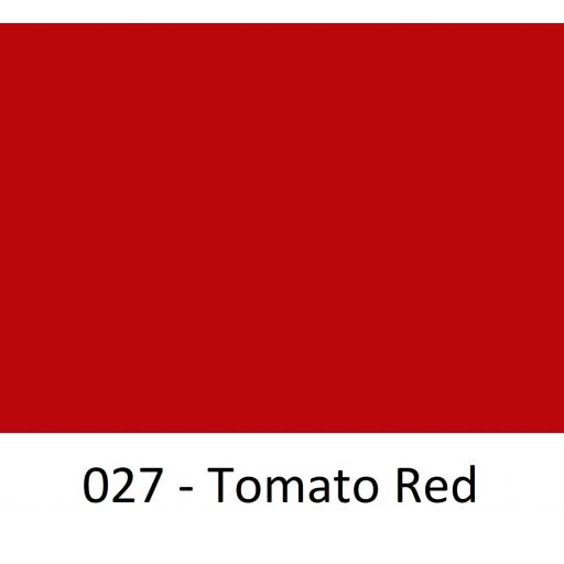 630mm Wide Tomato Red 027 Gloss Finish Oracal 751 Cast Sign Vinyl