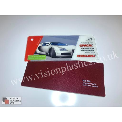 1520mm Wide Oracal 970 Rapid Air Premium Wrapping Cast Vinyl - Red Brown Metallic 369