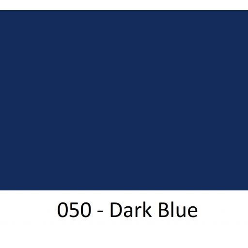 Oracal 651 Series CAD/CAM Plotter Vinyl Gloss 050 Dark Blue 630mm Wide