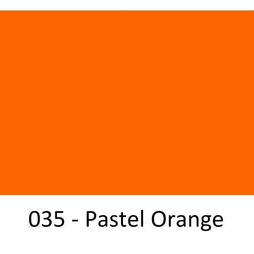 630mm Wide Pastel Orange 035 Gloss Finish Oracal 751 Cast Sign Vinyl