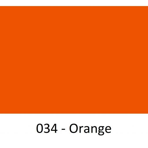 630mm Wide Orange 034 Gloss Finish Oracal 751 Cast Sign Vinyl
