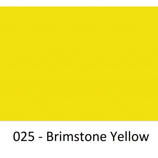 Oracal 651 Series CAD/CAM Plotter Vinyl Gloss 025 Brimstone Yellow 630mm Wide