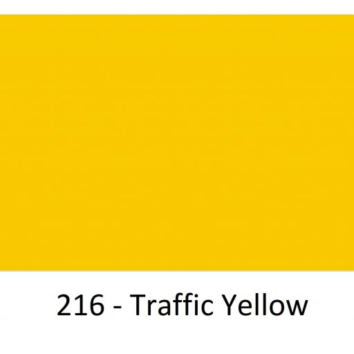 1520mm Wide Oracal 970 Rapid Air Premium Wrapping Cast Vinyl - Traffic Yellow 216 Gloss