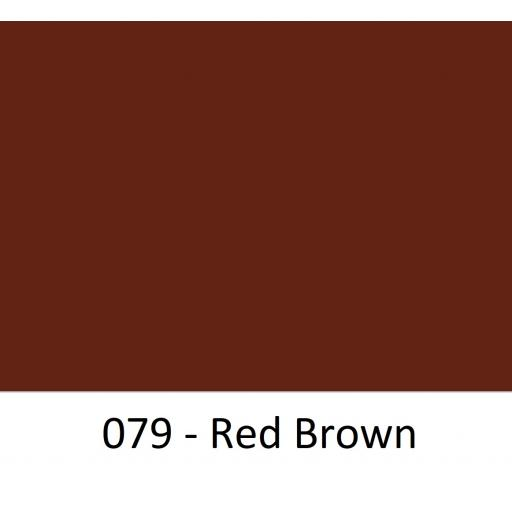 630mm Wide Red Brown 079 Gloss Oracal 751 Cast Sign Vinyl