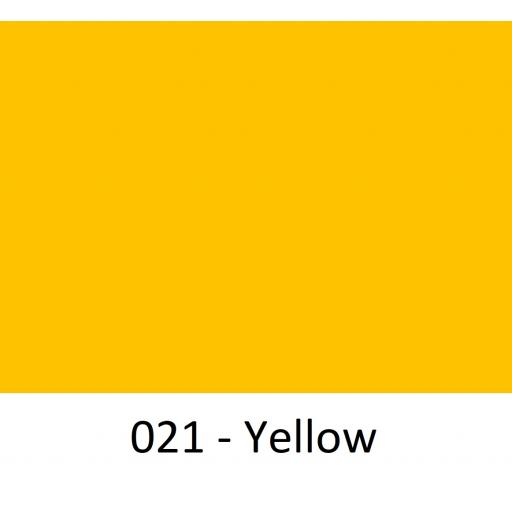 1260mm Wide Oracal 651 Matt Series Intermediate Cal Vinyl - Yellow 021