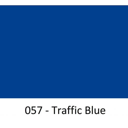 630mm Wide Oracal 751 Series Cast Vinyl 057 Traffic Blue Gloss Finish