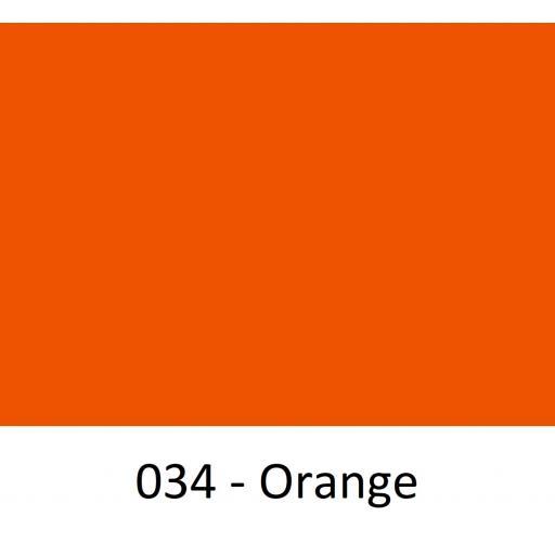 630mm Wide Oracal 641M Economy Calendered Vinyl - Orange 034 Matt