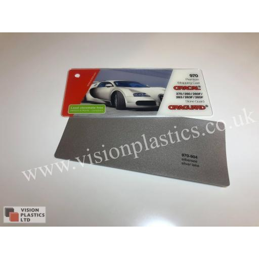 1520mm Wide Oracal 970 Rapid Air Premium Wrapping Cast Vinyl - Silver Lake 904