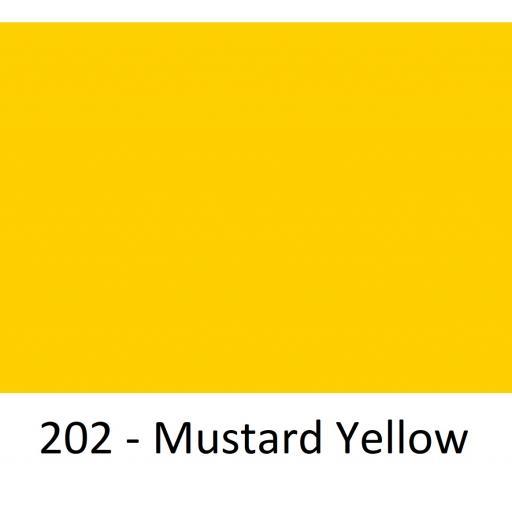 630mm Wide Oracal 551 Series High Performance Cal Vinyl - Mustard Yellow 202