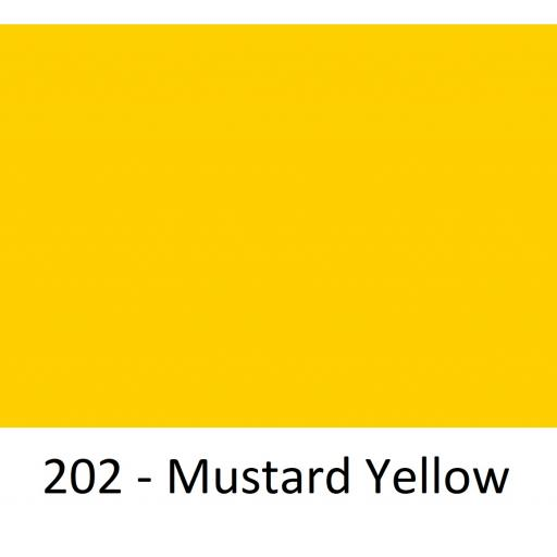 1260mm Wide Oracal 551 Series High Performance Cal Vinyl - Mustard Yellow 202