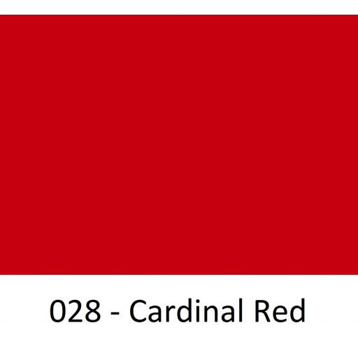 630mm Wide Cardinal Red 028 Gloss Finish Oracal 751 Cast Sign Vinyl