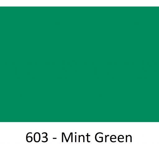 1260mm Wide Oracal 551 Series High Performance Cal Vinyl - Mint Green 603