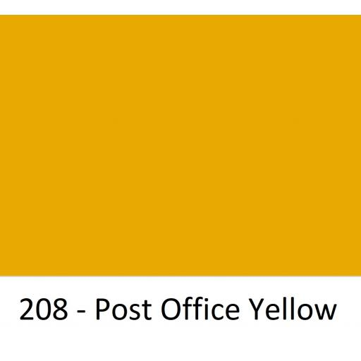 Oracal 751 Cast Vinyl 208 Post Office Yellow 630mm Wide (Self Adhesive)