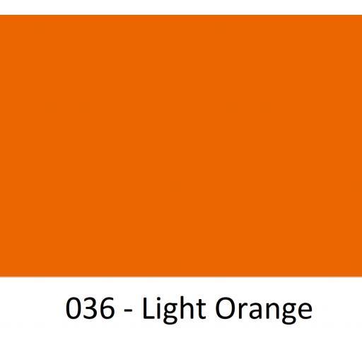 Oracal 651 Series CAD/CAM Plotter Vinyl Gloss 036 Light Orange 630mm Wide