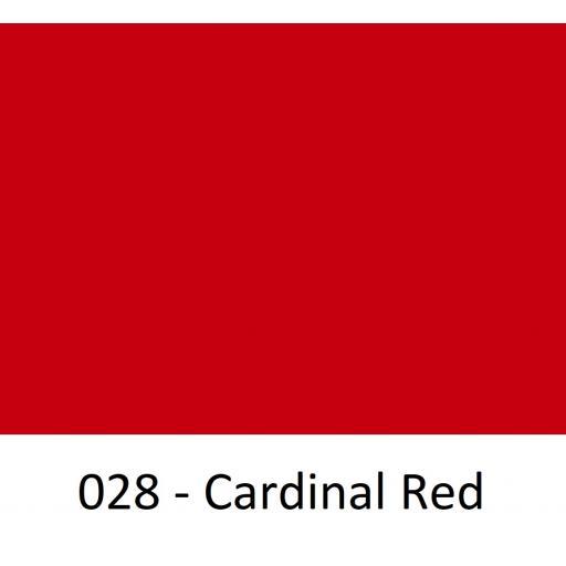 1260mm Wide Oracal 551 Series High Performance Cal Vinyl - Cardinal Red 028