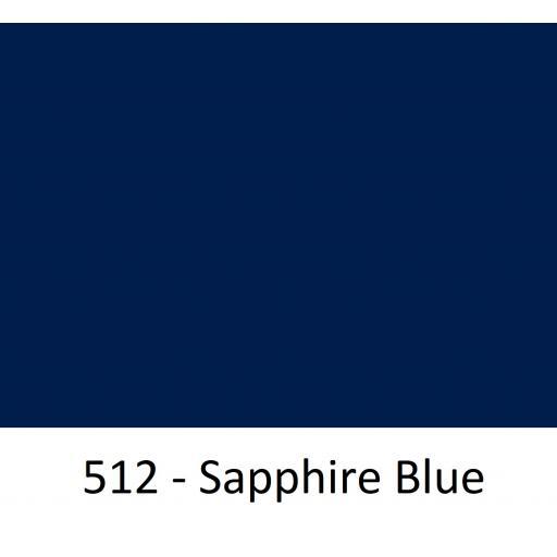 630mm Wide Oracal 551 Series High Performance Cal Vinyl - Sapphire Blue 512
