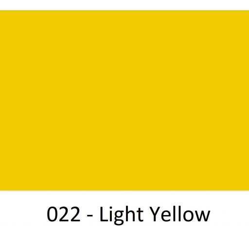 630mm Wide Light Yellow 022 Gloss Finish Oracal 751 Cast Sign Vinyl