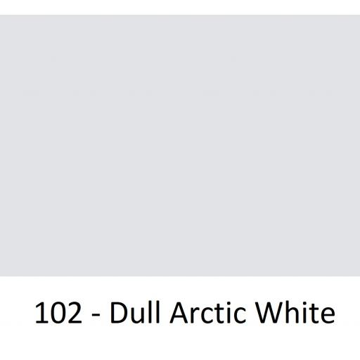1260mm Wide Oracal 551 Series High Performance Cal Vinyl - Dull Arctic White 102