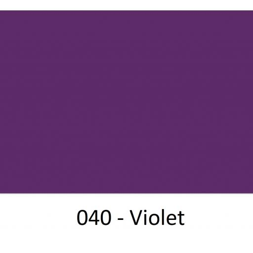 630mm Wide Violet 040 Gloss Finish Oracal 751 Cast Sign Vinyl