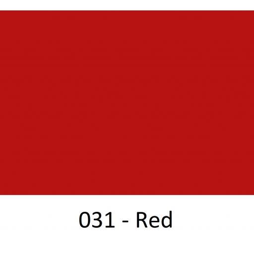 630mm Wide Oracal 641M Economy Calendered Vinyl - Red 031 Matt