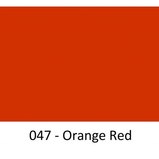 630mm Wide Orange Red 047 Gloss Finish Oracal 751 Cast Sign Vinyl