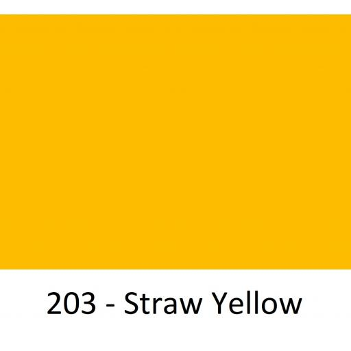 630mm Wide Straw Yellow 203 Gloss Finish Oracal 751 Cast Sign Vinyl