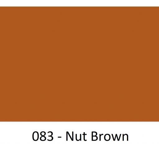 Oracal 751 Cast Vinyl 083 Nut Brown 630mm Wide (Self Adhesive)