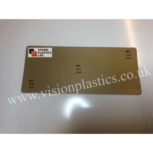 630mm Wide Oracal 641M Economy Calendered Vinyl - Gold 091 Matt