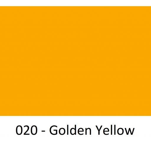 630mm Wide Oracal 641M Economy Calendered Vinyl - Golden Yellow 020 Matt