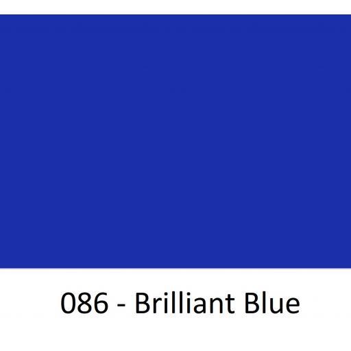 Oracal 651 Series CAD/CAM Plotter Vinyl 086 Gloss Brilliant Blue 630mm Wide