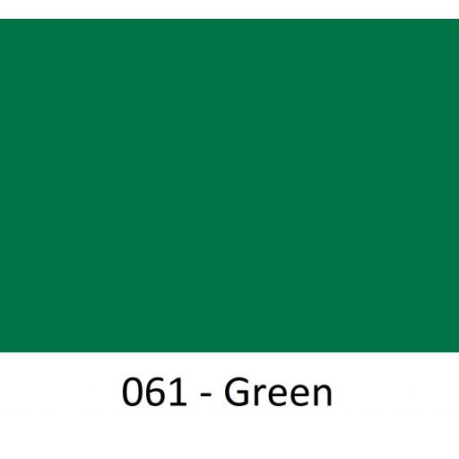 Oracal 751 Cast Vinyl 061 Green 1260mm Wide (Self Adhesive)