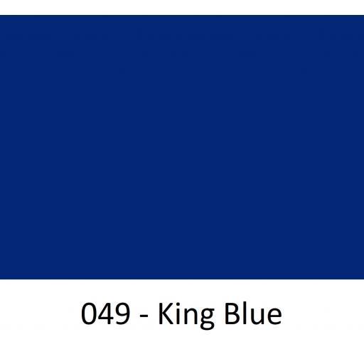 630mm Wide Oracal 551 Series High Performance Cal Vinyl - King Blue 049