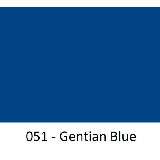 630mm Wide 051 Genetian Blue Gloss Finish Oracal 751 Cast Sign Vinyl