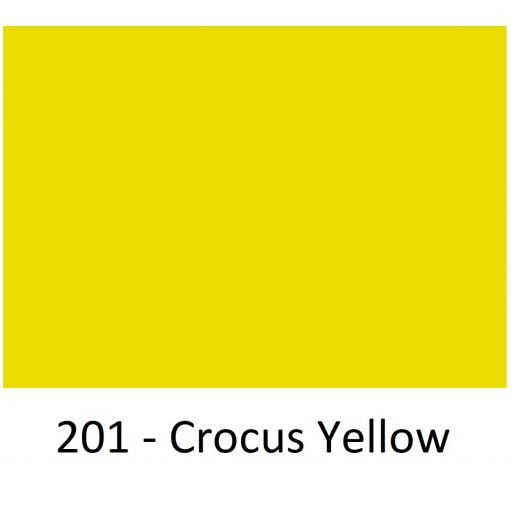 1520mm Wide Oracal 970 Rapid Air Premium Wrapping Cast Vinyl - Crocus Yellow 201 Gloss