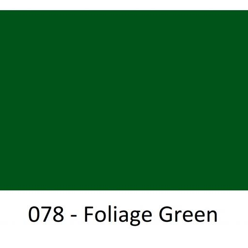 630mm Wide Foliage Green 078 Gloss Finish Oracal 751 Cast Sign Vinyl