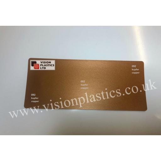 630mm Wide Oracal 641M Economy Calendered Vinyl - Copper 092 Matt