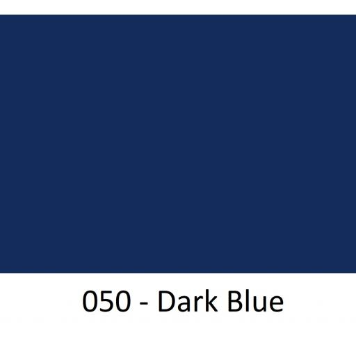 630mm Wide Oracal 641M Economy Calendered Vinyl - Dark Blue 050 Matt