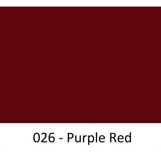 630mm Wide Purple Red 026 Gloss Finish Oracal 751 Cast Sign Vinyl