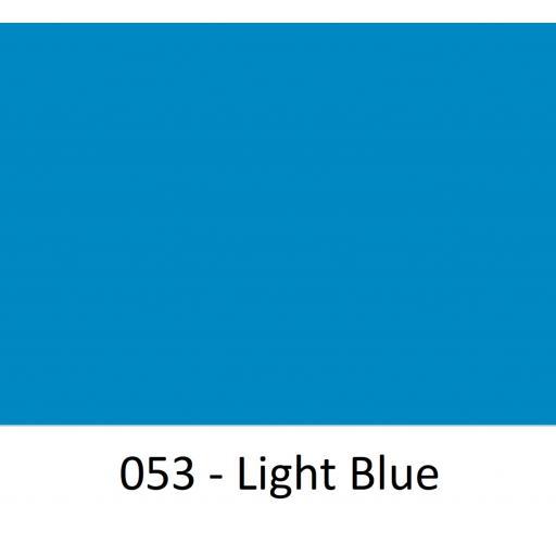 Oracal 651 Series CAD/CAM Plotter Vinyl Gloss 053 Light Blue 630mm Wide