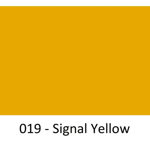 1260mm Wide 019 Signal Yellow Gloss Finish Oracal 751 Cast Sign Vinyl