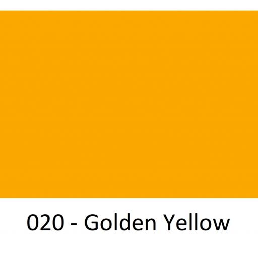 630mm Wide Golden Yellow 020 Gloss Finish Oracal 751 Cast Sign Vinyl