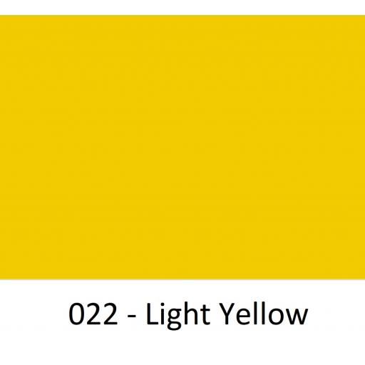 1520mm Wide Oracal 970 Rapid Air Premium Wrapping Cast Vinyl - Light Yellow 022 Gloss