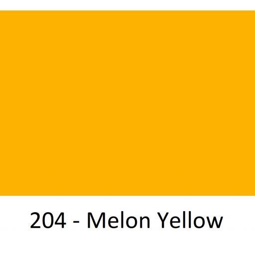 1260mm Wide Oracal 551 Series High Performance Cal Vinyl - Melon Yellow 204